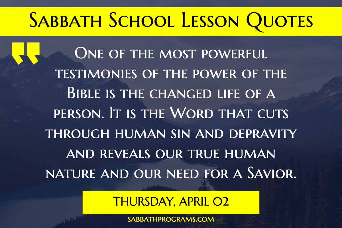 sabbath school quote